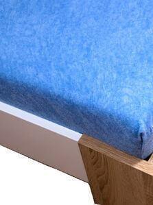 Froté plachta modrá 160 x 200