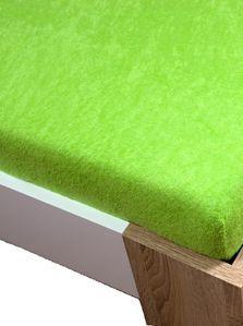 Froté plachta zelená 160 x 200