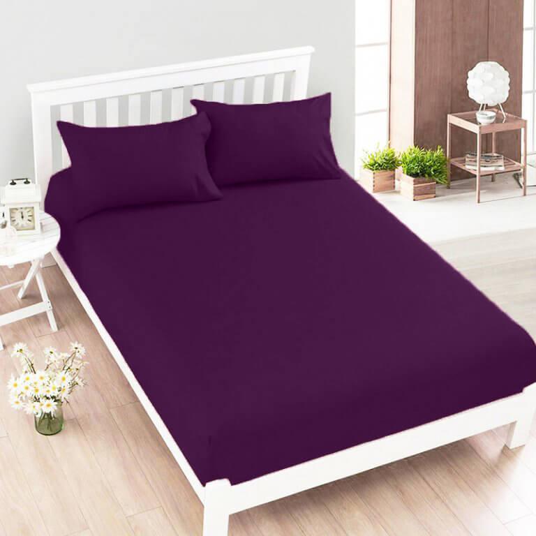 Jersey plachta fialová 160 x 200